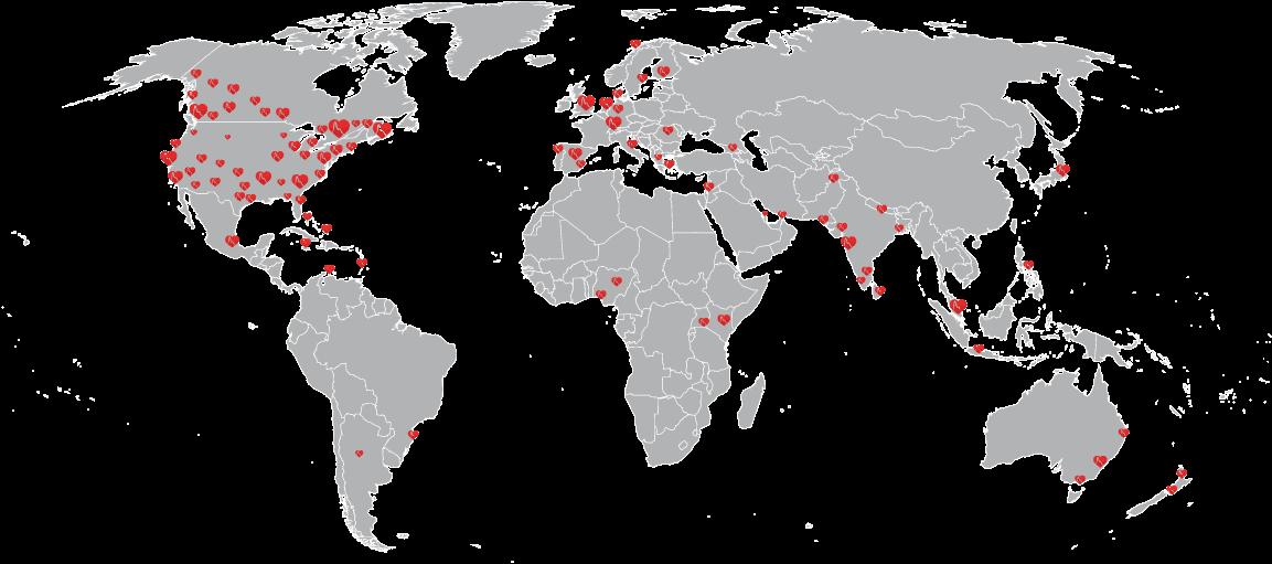 iHeartのコミュニティは世界中に広がっています